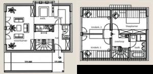 Begane grond en 1e verdieping