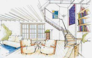 Een blik in de woonkamer hier met galerei