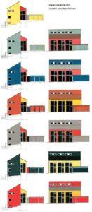 Kleurvarianten bij een isorastpassiefhuis