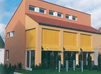 passiefhuis met zonnewering