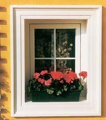 raam met een wandlijst