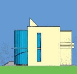 zijaanzicht ronde isorast huis