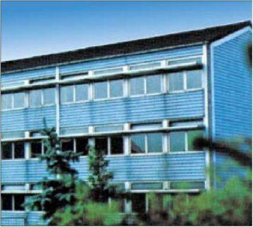 hoekhuis koblenz isorast kantoorAfb.1:1968: Hogeschool in Berghausen bij Speyer, met de elementen van de oostenrijkse Styropor-pionier Herbert Fitzek gebouwd.